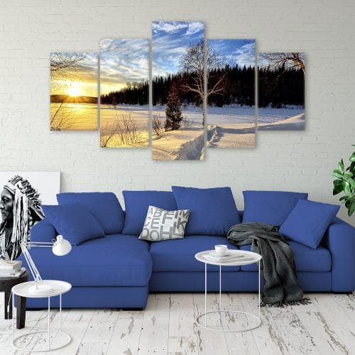 Winter Sunset- Beautiful Home Décor | Unique Canvas